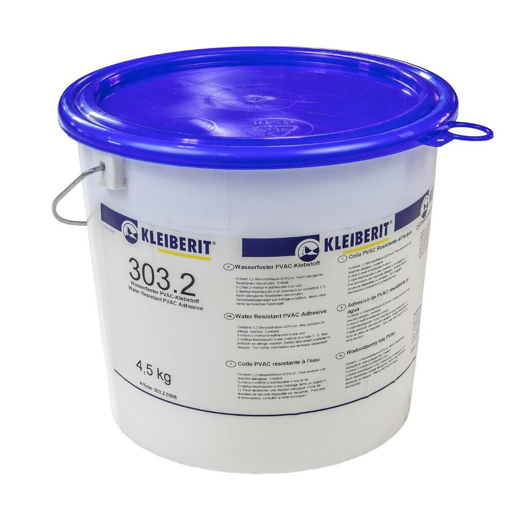 KLEIBERIT промышленный клей для водостойких склеиваний класса Д3, а с добавлением 5% турбоотвердителя 303,5-Д12 303.2 10